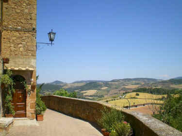 View out over the Val d'Orcia from Pienza.