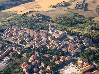 aerial view of pienza